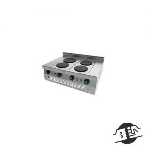 JEMI S614E Elektrisch fornuis 4 pits