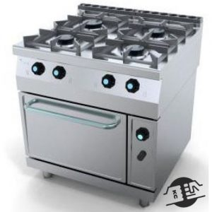 JEMI 714 Gasfornuis 4-pits met oven in de onderbouw