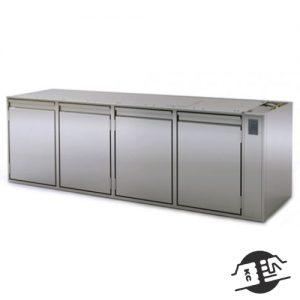 Coldline HS21/1MR130 Koelwerkbank 4-deurs zonder bovenblad (remote)