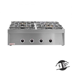 Berner BHG4S70KTD 4-pits opzetgasfornuis standaard