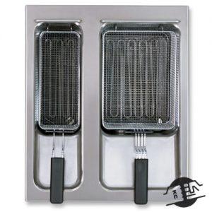 Berner BFEM50/2 Inbouw friteuse 8 + 12 L