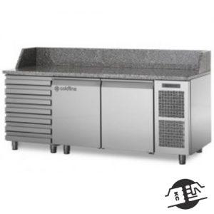 Coldline TZ13/1MC-710 Pizza-prepstation 2-deurs / deegladen (neutraal)