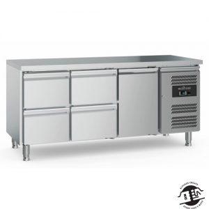KitchenMate-E Koelwerkbank 2 x 2 laden / 1 x deur