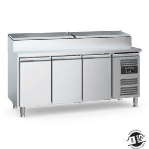 KitchenMate-E Saladette 3-deurs met RVS deksel