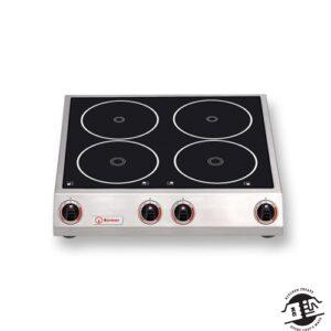 Berner BM4K7 Inductiekookplaat met 4 kookplaten